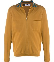anglozine beauduc zip-up cotton cardigan - neutrals
