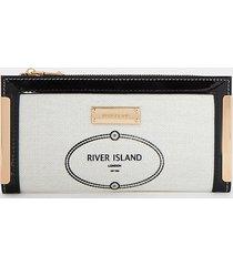 river island womens white ri metal corner purse