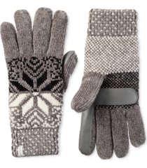 isotoner signature women's chenille snowflake gloves