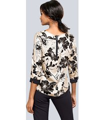 blommig blus alba moda mullvad::svart