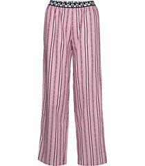 dkny 100% dkny pant pyjamabroek joggingbroek roze dkny homewear
