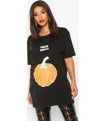 zwangerschap 'pumpkin smuggler' halloween t-shirt, zwart