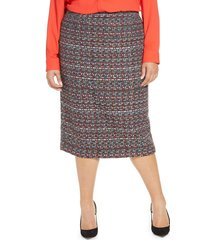 plus size women's halogen tweed pencil skirt