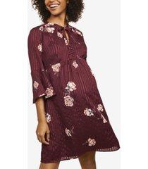 motherhood maternity printed dress