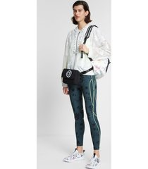 semi-sheer floral jacket with hood - white - l