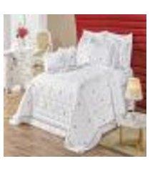 jogo de cama queen bordado 200 fios felicitá branco vilela enxovais 4 peças