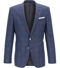 boss men's hutsons4 slim-fit wool blazer