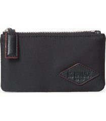 men's mz wallace bleecker nylon rfid card case - black