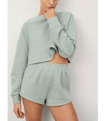 mango women's drawstring waist shorts