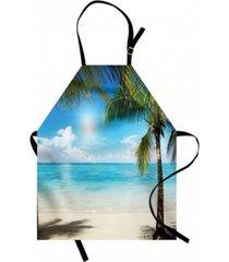 ambesonne tropical beach apron