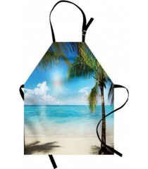 ambesonne tropical beach apron