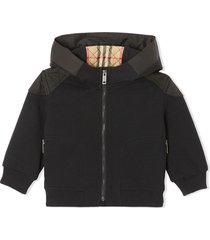 burberry black cotton hoodie