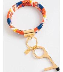 clean key bracelet in red - multi
