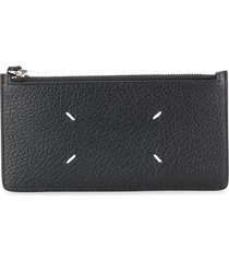 maison margiela textured wallet - black
