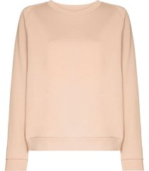 baserange organic cotton sweatshirt - neutrals