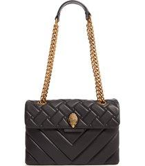 kurt geiger london kensington quilted leather shoulder bag - black