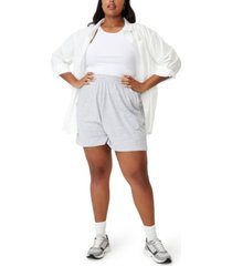 plus size trendy courtside jersey shorts