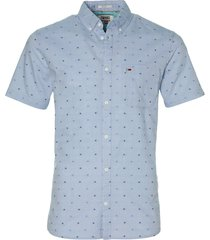 tommy jeans overhemd - modern fit - blauw