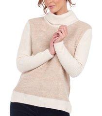barbour colorblocked turtleneck sweater