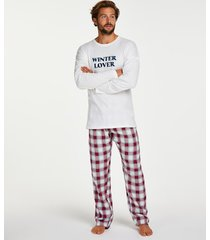 hunkemöller pyjamasset för killar röd