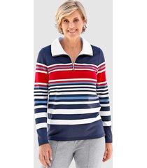 sweatshirt paola marine::rood::wit
