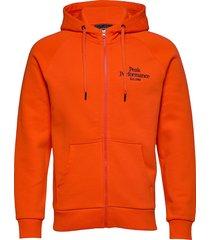m orig zh hoodie trui oranje peak performance