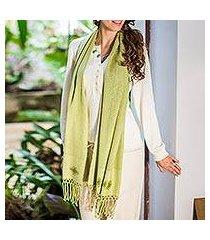 shawl, 'cool mint' (guatemala)