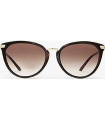 mk occhiali da sole claremont - tartaruga (marrone) - michael kors