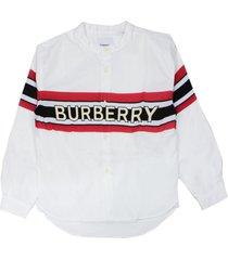 burberry white poplin cotton shirt