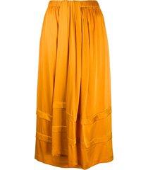 christian wijnants full draped skirt - orange
