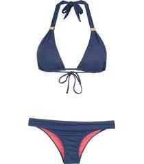 brigitte triangle bikini set - green
