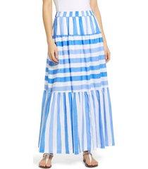 women's vineyard vines mix stripe tiered maxi skirt