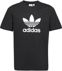 adicolor classics trefoil t-shirt t-shirts short-sleeved svart adidas originals