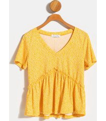 carrie babydoll top - mustard