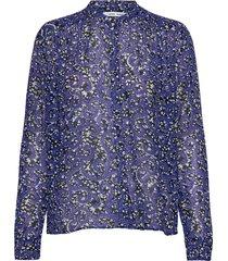 elmy shirt aop 9695 blus långärmad blå samsøe samsøe