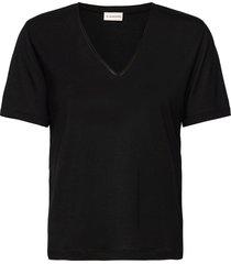 aneilia t-shirts & tops short-sleeved svart by malene birger
