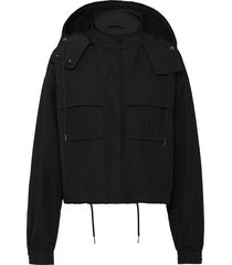 prada technical poplin jacket - black