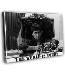 the world is yours scarface pacino 16x12 framed canvas print