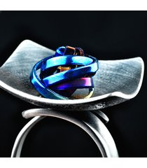 srebrny pierścionek z tytanem titan crush