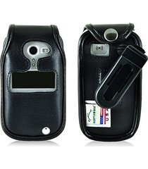doro phoneeasy 626 flip phone fitted case turtleback made in usa (black leather