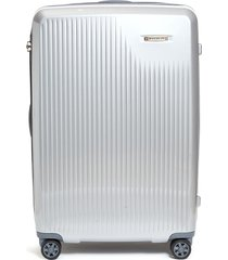 sympatico large expandable spinner limited edition suitcase - silver