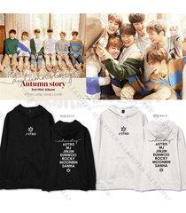 kpop astro autumn story cap hoodie sweater unisex sanha eunwoo sweatershirt