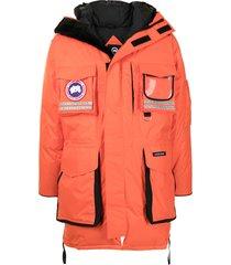canada goose snow mantra padded coat - orange