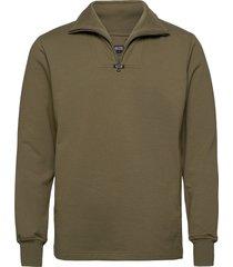 aatos sweatshirt knitwear half zip jumpers grön r-collection