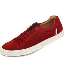sapatenis em couro casual 575 vermelho - vermelho - masculino - couro - dafiti