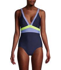 colorblock one-piece swimsuit