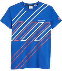 men's superdry sportstyle men's graphic tee, size xx-large - blue