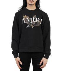 amiri black eagle sweatshirt