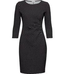dress knitted fabric jurk knielengte zwart gerry weber