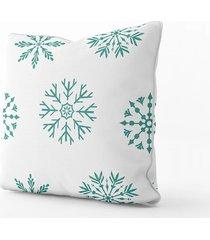 poszewka bawełna premium śnieżynki